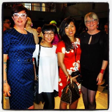 L-R: Helen Siwak, KKC, MIranda Sam & Aurora Chan @stylebyfire, Marilyn Wilson @oliobymarilyn