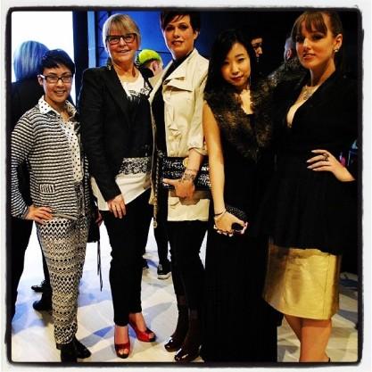 L-R: Miranda Sam @stylebyfire, Marilyn Wilson @marilynbyolio, Helen Siwak @kitsilanokittys, Samantha Sito @otisamantha, Courtney Ellerman, Collections Asst KKC