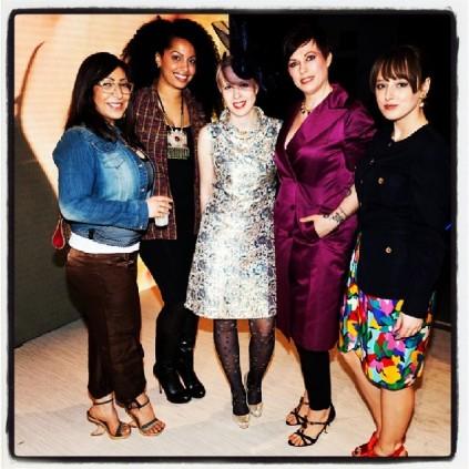 L-R: Dona @stylebydona, Jihan Amer @jihanamer, Dominique Hanke @hivemindhats, Helen Siwak & Courtney Ellerman @kitsilanokittyscloset
