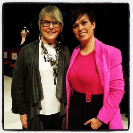 Marilyn Wilson @oliobymarilyn wearing amazing Caroline Bruce jewelry & Helen Siwak, KKC
