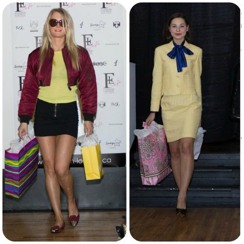 London: Rachel is wearing Jeremy Scott for Adidas, Hugo Boss Orange, Sigersen Morrison / Paris: Courreges Paris, Ted Lapidus, Marni (Photography by RDL Images)