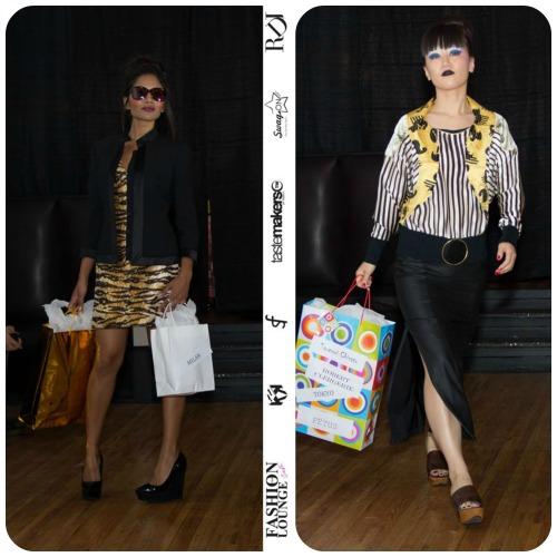 Milan: Kamantha is wearing Alexander McQueen, Dolce & Gabbana, Aldo platforms / Tokyo: Yumi is wearing Tsumori Chisato, Fetus, Robert Clergerie. (Photography by RDL Images)