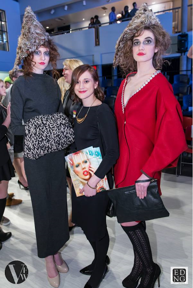 Connally with two of her runway models. Photo by Ed Ng. Courtesy of Vancouver Fashion Week.