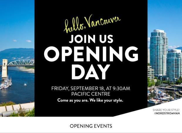 nordstrom, vancouver, opening in September, helen siwak, yvr, vancouver