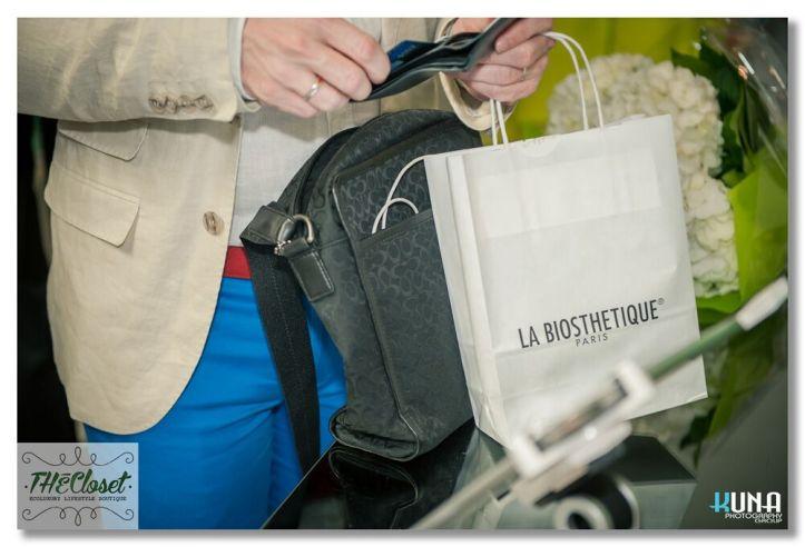 Gift bags sponsored by La Biosthetique