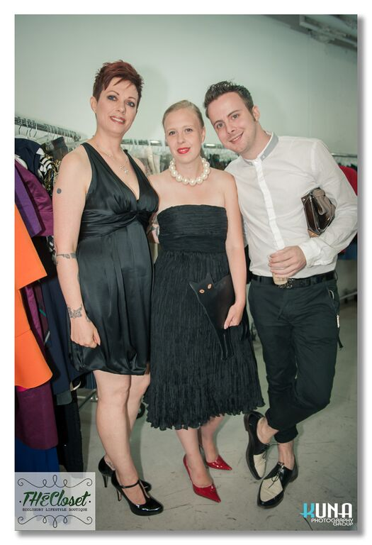 Left to Right: Helen Siwak, Lead In-House Stylist Dominique Hanke of HankeStyle, Joshua Langston of The Social Life.