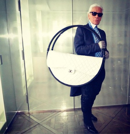 Karl Lagerfeld, chanel, hoola hoop, purse, helen siwak