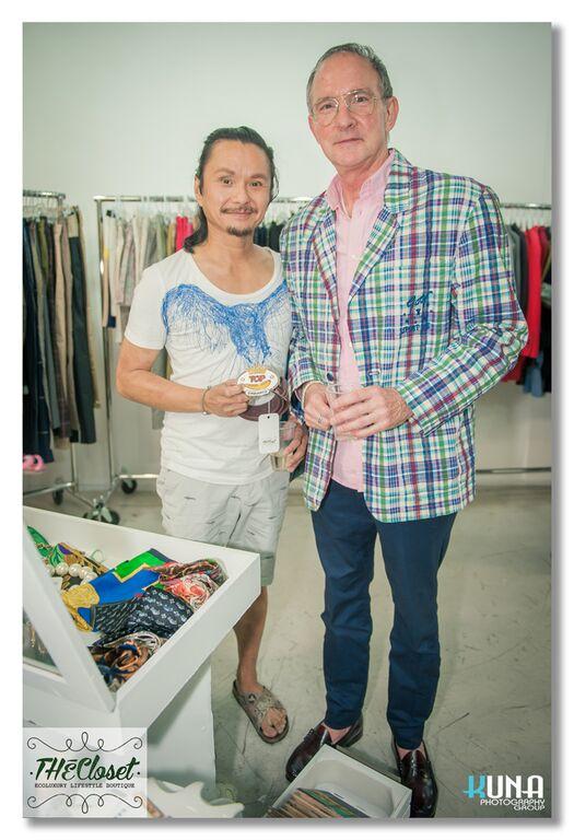 Art afficienado Wesley Yuen and husband Patrick Prinster