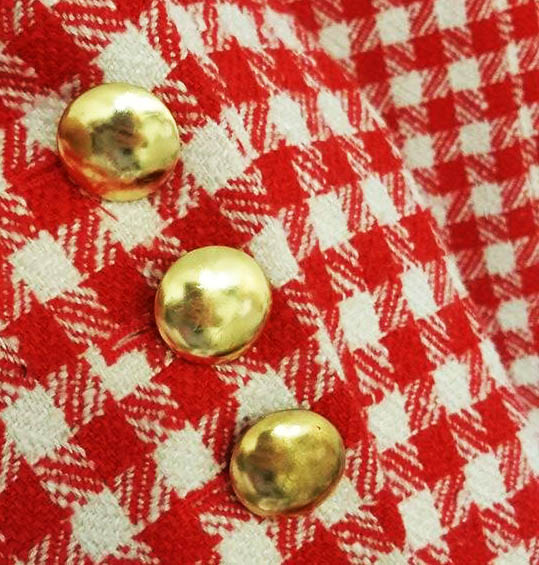 maxime favreau, tartan, fabrics, fashion, vancouver, helen siwak, gucci, chester barrie, denicler, max mara